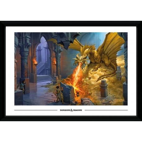 Collector Print - Gold Dragon 70x50cm